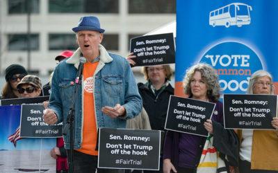 The Salt Lake Tribune – Utah progressive groups call for fair Senate impeachment trial during rally