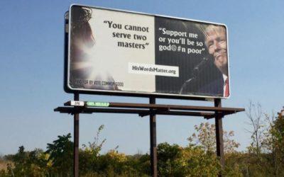 Detroit Free Press – Michigan billboard campaign contrasts Trump's words against Jesus'